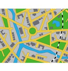 Editable map area vector