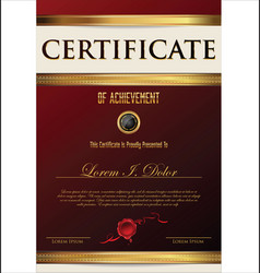 Elegant black certificate or diploma template 3 vector