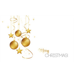 Elegant christmas background with gold baubles vector