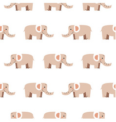 Elephant seamless pattern cute zoo african vector