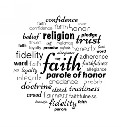 Faith word cloud vector