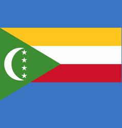 Flag of comoros vector