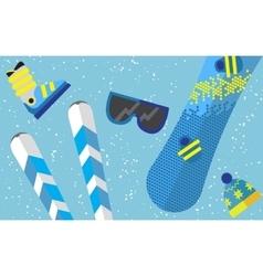 Flat design winter sport concept Sports equipment vector