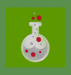 Flat shading style icon halloween potion bottle vector