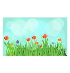 Flowering meadow vector