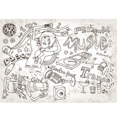 funny hand drawn doodles vector image vector image