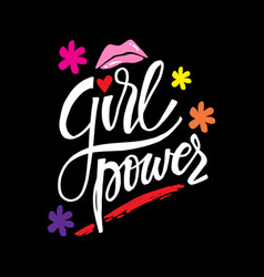 girls power motivational quote poster vector image