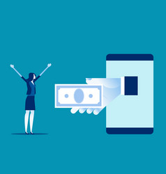 Giving money to business employee business salary vector