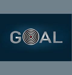 Goal metallic letters benner success business vector