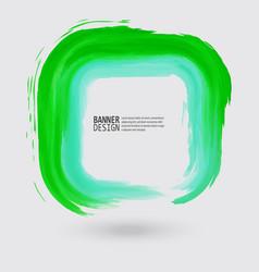 green ink square stroke vector image