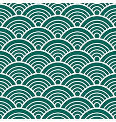 Green white traditional wave japanese chinese vector