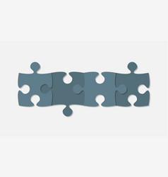 Grey piece puzzle puzzle b infographic 4 step vector