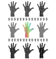 Hand silhouette set vector