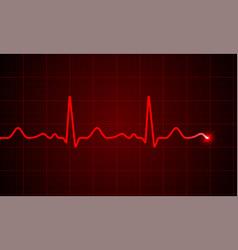 heart cardiogram pulse screen background vector image