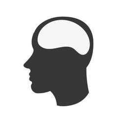 human brain in head icon vector image
