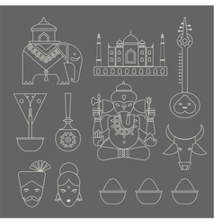 Indian icons vector