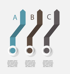 infographic arrows with 3 step up options and vector image