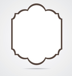 Isolated label vector image