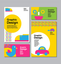 layout design template cover book colorful vector image