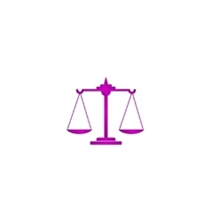 Libra Icon Modern design flat style vector image