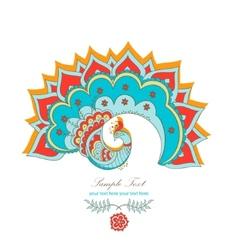 magic decorative hindu peacock vector image