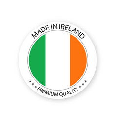 Modern made in ireland label irish sticker vector