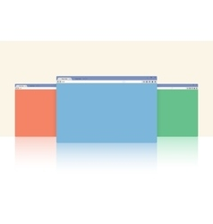Multi colored internet browser windows vector image