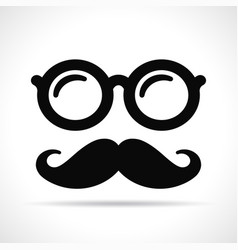 Mustache and eye glasses vector