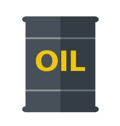 Oil black barrel vector image