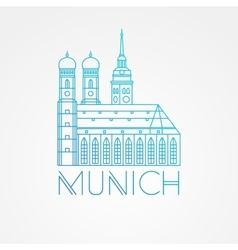 one line minimalist icon of German Towers vector image