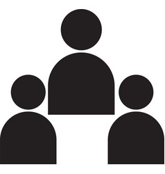 people black icons people icon vector image