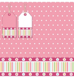 polka wrapping vector image