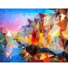 Polygonal man background vector image