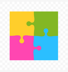puzzle square colors art icon vector image