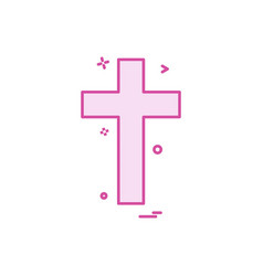 religion cross christian icon design vector image
