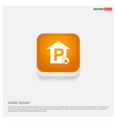 Reserved parking place icon vector