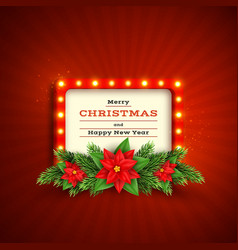 retro christmas holiday background vector image
