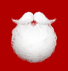 santas beard vector image