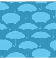 Seamless pattern with umbrellas for background vector image