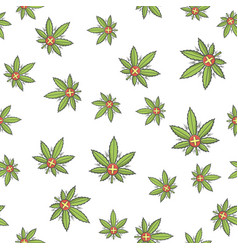 seamless texture medical marijuana three vector image