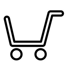 shopping cart line icon market cart vector image