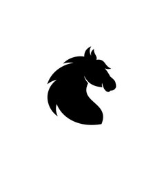 simple head horse vector image