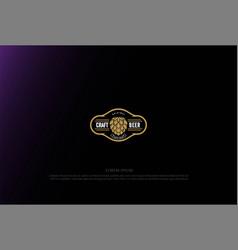 simple minimalist luxury hop for craft beer vector image