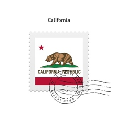 State california flag postage stamp vector