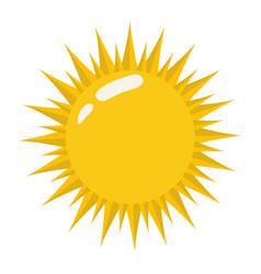 Sun icon on a white background bright sun vector
