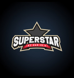 superstar power full typography t-shirt graphics vector image