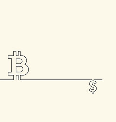 symbol of digital crypto currency bitcoin and vector image vector image