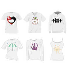 T-shirt templates vector