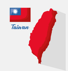 taiwan map icon vector image