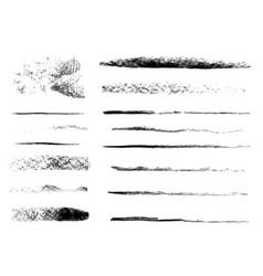 Texture charcoal set vector